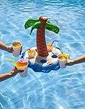 Flotadores posavasos hinchables para piscina en forma de Palmera