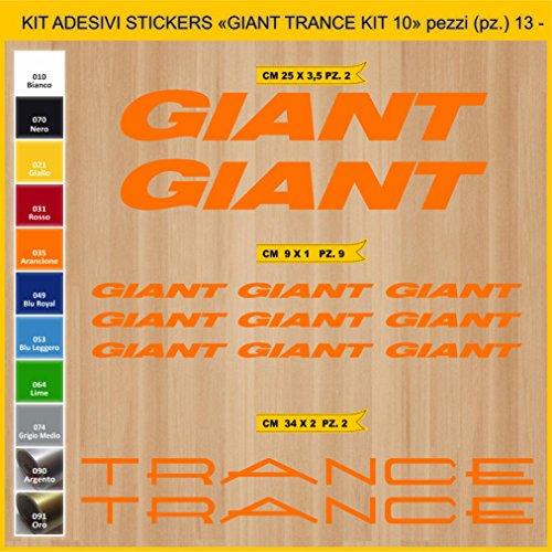 Adesivi Bici Giant Trance_Kit 10_ Kit Adesivi Stickers 13 Pezzi -Scegli SUBITO Colore- Bike Cycle pegatina cod.0866 (035 Arancione)