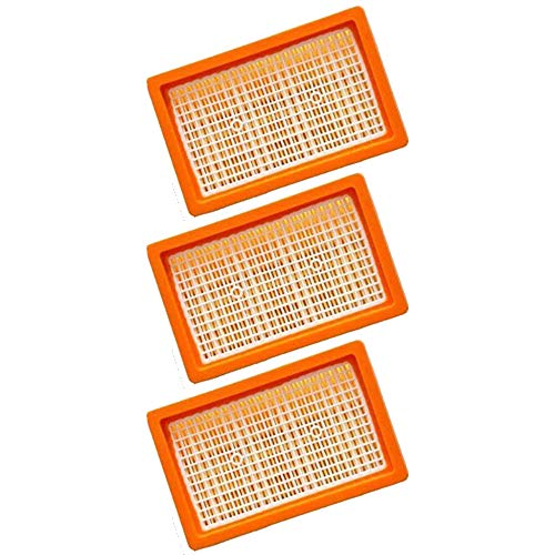 3x Flachfaltenfilter | für Kärcher Mehrzwecksauger + Nass-/ Trockensauger | MV4 + MV5 + MV6 + WD4 + WD5 + WD6 | wie 2.863-005.0 WD 4-6 und MV 4-6