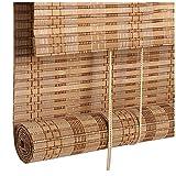 Giardino Persianas Retro levantables de bambú, Cortinas enrollables de filtrado de luz clásicas, Ventana Enrollable de bambú, Cortina de Puerta de Cortina de bambú