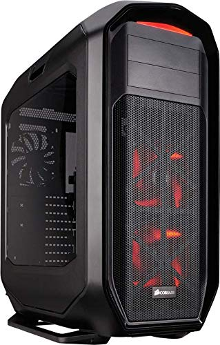 Corsair CC-9011063-WW 780T Graphite Series Windowed Full Tower ATX Gaming Case with LED Fan - Black/Red