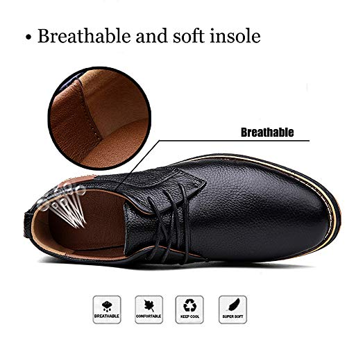 TSIODFO Oxfords for Men Black Colour Mens Business Casual Shoes Cow Leather Work Men's Dress Shoes Size 10 (6111black43)