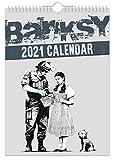Banksy - Calendario da parete 2021 // arte/creativo/Natale/compleanno/idea regalo/novità/umorismo/Babbo Natale segreto/anni/regalo per ufficio