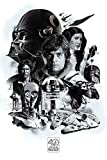 1art1 Star Wars - 40th Anniversary Montage Pster (91 x 61cm)