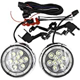 Led Rally Light DRL Daytime Running Light Kits For Mini Cooper R55 Clubman R56 Hatch Hardtop R57 Convertible R58 Coupe R60 Countryman R61 Paceman F56 F55 Hardtop Led Driving Fog Lights with Halo Ring