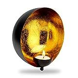 Teelichthalter Wand Gold | Wanddeko Metall | perfekte Deko fürs Wohnzimmer | 2er Set
