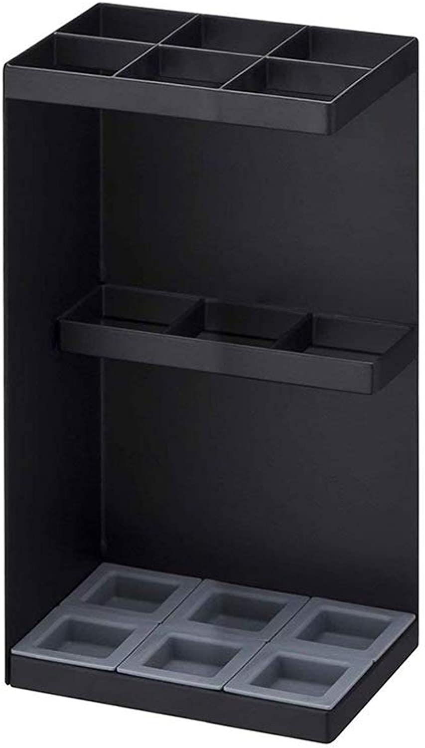 MYQ Umbrella Stand, Floor-Standing Umbrella Stand Corner Storage Rack for Family Long and Short Handle Umbrella Storage 2 colors Hallway Umbrella Stand (color   Black)