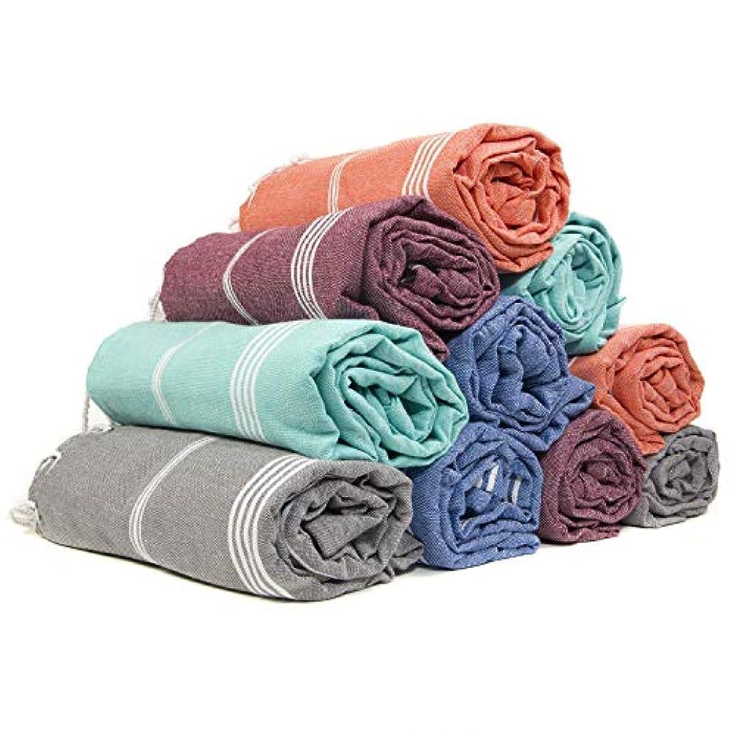 Gute (Set of 6) XXL Turkish Cotton Bath Beach Hammam Turkish Towel Sets Peshtemal Throw Fouta Blanket Set, Luxuries Towels