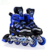 BHAGIRATHI MALL Designed Sparkle Adjustable Inline Skates with Front Light up PU Wheels Beginner...