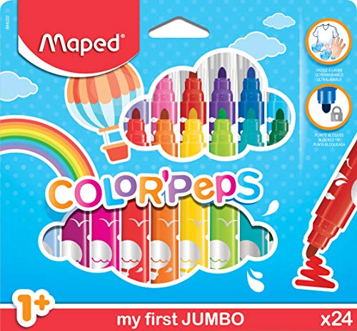 Maped Color' Peps Early Age Jumbo - Pack de 24 rotuladores