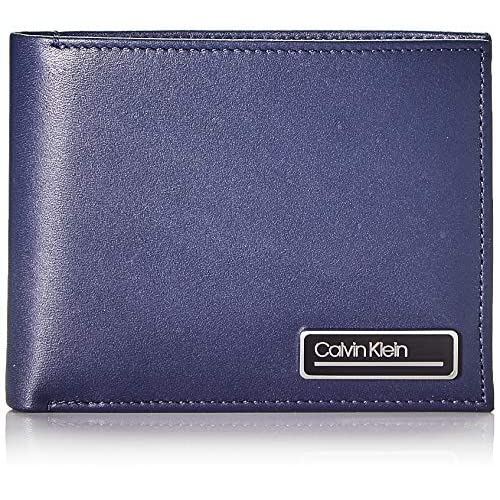 Calvin Klein Primary L 5cc W/Coin - Portafogli Uomo, Blu (Blackwhite Navy), 1x1x1 cm (W x H L)