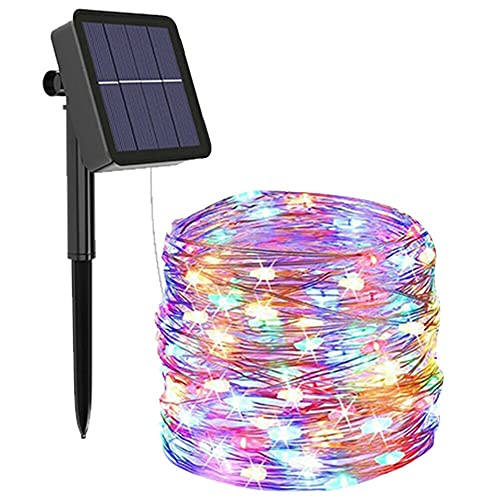 Solar String Lights Outdoor Waterproof Fairy Lights 98ft 300 LED Copper Wire Lights 8 Modes Solar Powered String Lights for Indoor Outdoor Patio Yard Trees Party Decor (Colorful)