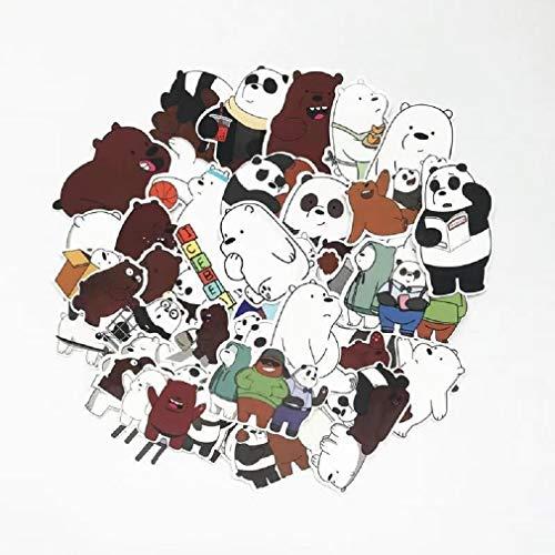 SetProducts Top Pegatinas! Juego de 42 Pegatinas de Somos Osos Vinilos - No Vulgares - We Bare Bears - Personalización Portátil, Laptop, Computer, Mac, Pc, Scrapbooking, Journal
