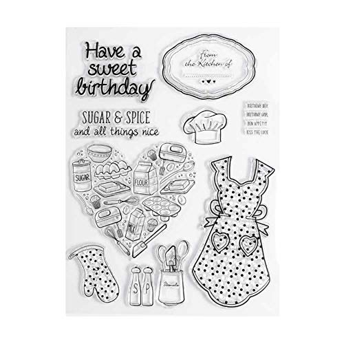 Blue Vesse DIY Transparente Stempel Mama es Kitchen DIY Manuelle Album Tagebuch Silikon Fertig Siegel Stempel Silicone Transparent Stamp