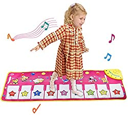 EASY to CARRY :This kids dance mat is foldable and easy to carry. It is easy to use whether you are traveling or at home. More convenient than a stand keyboard piano. No risk of falling damage, suitable for kids SPECIFICATIONS & FUNCTION: 8 piano fun...