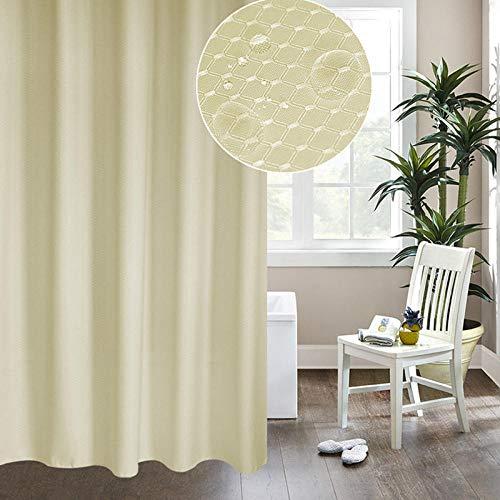 None brand Duschvorhang Dicke Jacquardvorhänge Hochwertiges Badezimmer Silbergrau Wabenstrukturiertes Polyestergewebe-180 x 220 cm