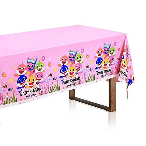Pink Baby Shark Table Cloth