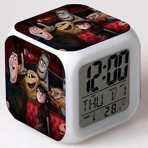 Wizard Hostel Alarm Clocks Kids LED Clock Cartoon Night Light Flash 7 Color Changing Digital Clock Electronic Desk Clock,Style 48, Birthday