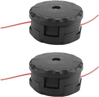 wifehelper 2Pcs String Trimmer Head Plastic Durable for Echo Speed-Feed 400 Heads SRM-225 SRM-230 SRM-210 Lawn Mower Accessories