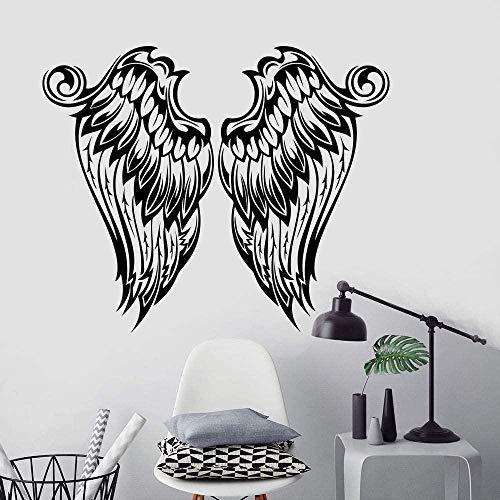 Pegatinas de pared de PVC extraíble calcomanía de pared alas diseño de interiores del hogar alas decoración de dormitorio de jardín de infantes 42X35cm