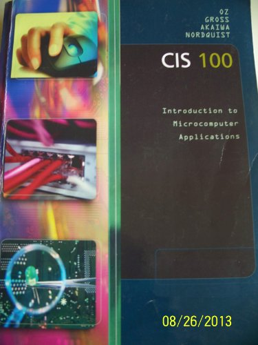 CIS 100 Intro to Microcomputer Applications