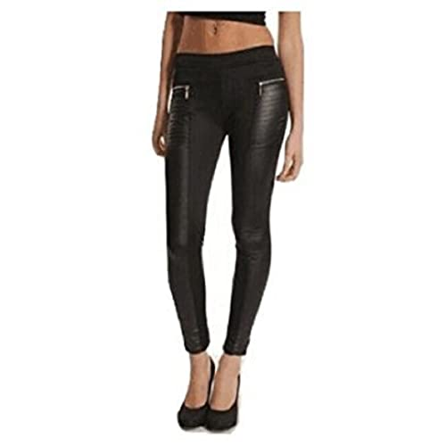 00cbdbda53dc0 L&C®Women Leather Look Panel Leggings Jeggings Zip Stretch Trousers Black