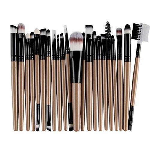 Longra Make-upkwastenset, 22-delig, make-upkwast, make-upkwast, gezicht, blush, gereedschap voor poeder, foundation, toilettas, ogen, mascara, make-up