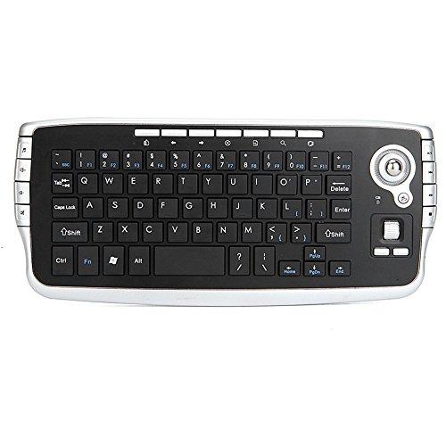 Docooler E30 Tastiera Wireless 2,4 GHz con Telecomando per Rotellina di Scorrimento Mouse Trackball per Android TV Box Smart TV PC Notebook