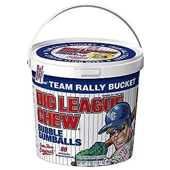 Big League Chew - Original Bubble Gum Flavor + 80pcs Individually Wrapped Gumballs + For Games Concessions Picnics & Parties