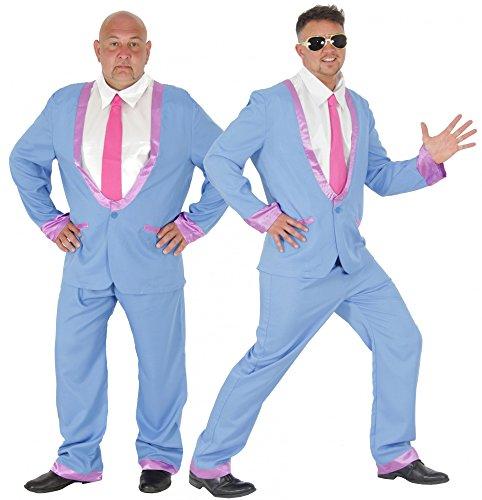 Foxxeo Blauer 50er Jahre Anzug für Herren Kostüm für Rock in Roll Motto-Partys Disco Teds Ted Cosh Boys Größe L