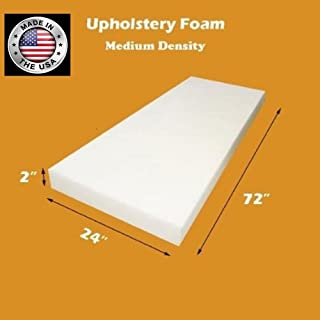 FoamTouch Upholstery Foam Cushion Medium Density, Made in USA, 2