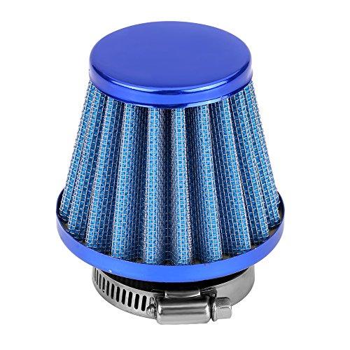 Universal Sportluftfilter Luftfilter, 38mm Luftfilter Intake Induction Kit für die meisten Dirt Pit Bike Mini Motocross Motorradmotor(Blue)