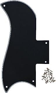 IKN 3Ply color negro/color blanco/negro 5agujeros SG guitarra Golpeador arañazos Placa con tornillos de montaje para guitarra SG '61Ri repuesto