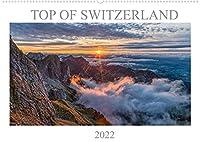 Top of Switzerland (Wandkalender 2022 DIN A2 quer): Die schoensten Blickpunkte von Schweizer Bergen. (Monatskalender, 14 Seiten )