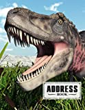 """Address Book: Dinosaur Tarbosaurus Cover Address Book Large Print, Record Birthday, Phone Number, Address, Email & Extra Notes   Size 8.5"""" x 11"""" By Ronny Kellner"""