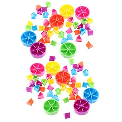 B Blesiya Juego De Entrenamiento 84x Trivial Pursuit Juego De Piezas Material De Matemática