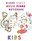 Blank sheet music piano notebook kids: Learn to play piano kids, learning piano notes for beginners  music gift for kids  (3 staves  on page  8.5x11, 100 pages)