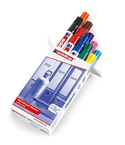 Edding 3000 - Rotulador permanente, colores surtidos [importado]