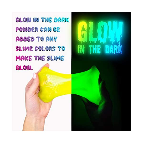 DIY Slime Kit Toy for Kids Girls Boys Ages 5-12, Glow in The Dark Glitter Slime Making Kit - Slime Supplies w/ Foam… 7