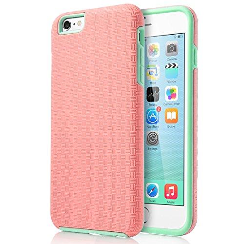 ULAK iPhone 6s Plus Case (5.5 inch), iPhone 6 Plus Case, iPhone 6s Plus Case (5.5 inch),Phone 6 Plus Case, Slick Armor Hybrid Hard Cover Case-Mint/Baby Pink -  U248