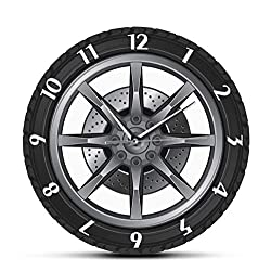 Haolc Car Service Repair Garage Owner Tire Wheel Custom Car Auto Wall Clock Watch Vintage Cool Mechanic Gift Ideal for Car Workshop