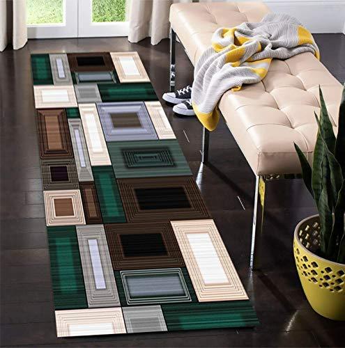 Korridor Teppich- Retro Flur Läufer Teppich, rutschfeste, Breite 60cm / 80cm / 100cm / 120cm erhältlich, Länge Anpassbare (Size : 80×200cm)