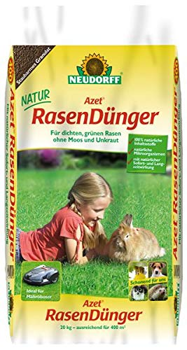 Neudorff Azet RasenDünger 20 kg - für dichten, grünen Rasen ohne Moos und Unkraut