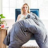 Harkla Adult Weighted Blanket (25lbs) - Soft and Comfortable Minky Fabric - Perfect for Adults who weigh 200-pounds+ - Price Includes Duvet Cover & Weight