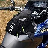 JFG Racing Motorrad-Tanktasche – wasserdichte Motorrad-Gepäcktasche mit starkem Magnet, großem...