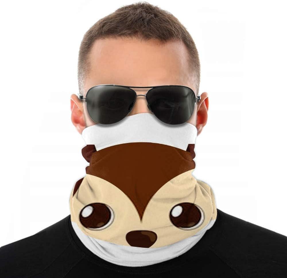Headbands For Men Women Neck Gaiter, Face Mask, Headband, Scarf Cartoon Cute Puppy Dog Big Ears Turban Multi Scarf Double Sided Print Head Bands For Sport Outdoor