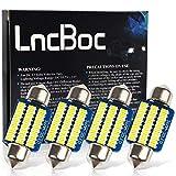 LncBoc 36mm(1.42') C5W 30-3014LED Bombilla LED Festón 6411 6418 LED Lampara Coche Interior Xenón 6000K 12V Paquete de 4
