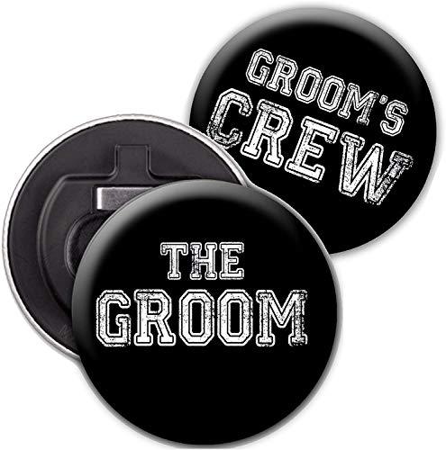 8 Groom's Crew Bottle Opener Set - …