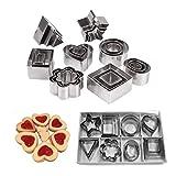 YZCX Set di Formine per Biscotti Stampi Biscotti Taglierine del Biscotto in Acciaio Inossidabile per Decorazioni in Fondente, Decorazioni di Dolci di Pasticceria (Grande 24PCS + scatola in pvc)