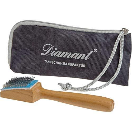 Diamant - Aufraubürste für Tanzschuhe mit Rauledersohle, mit Etui, Schuhbürste, Tanzschuhbürste